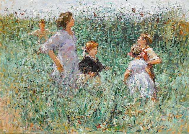 Adriaan Hendrik Boshoff (South African, born 1935) Family in the Vlei 104 x 145 cm. (41 x 57 in.)
