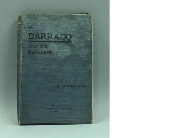 Archibald Ford: The Darracq and Its Management, 1905,