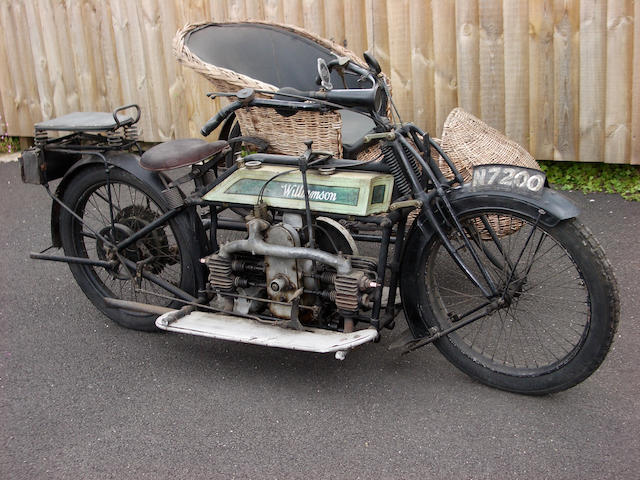 1912 Williamson 964cc 8hp Sidecar Outfit Frame no. 304 Engine no. 219
