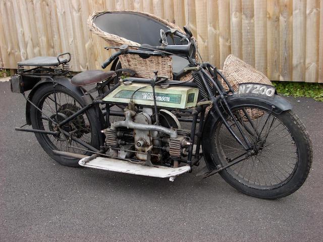 1912 Williamson 964cc 8hp Sidecar Outfit Frame no. 304 Engine no. 219