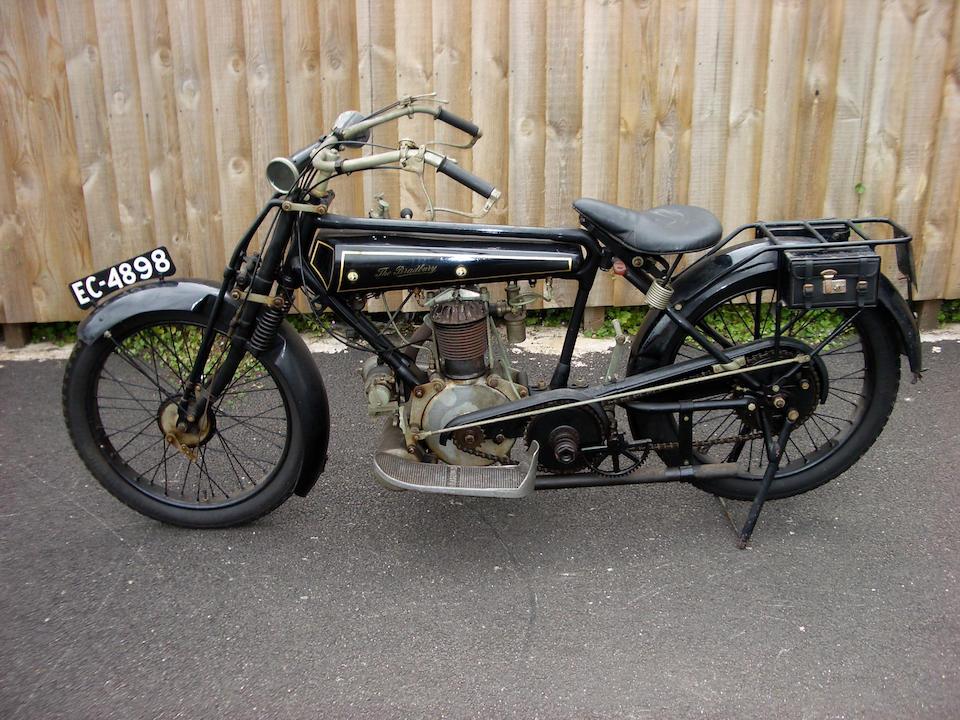 1923 Bradbury 4hp Solo Motorcycle Frame no. 58747D Engine no. 12107/D