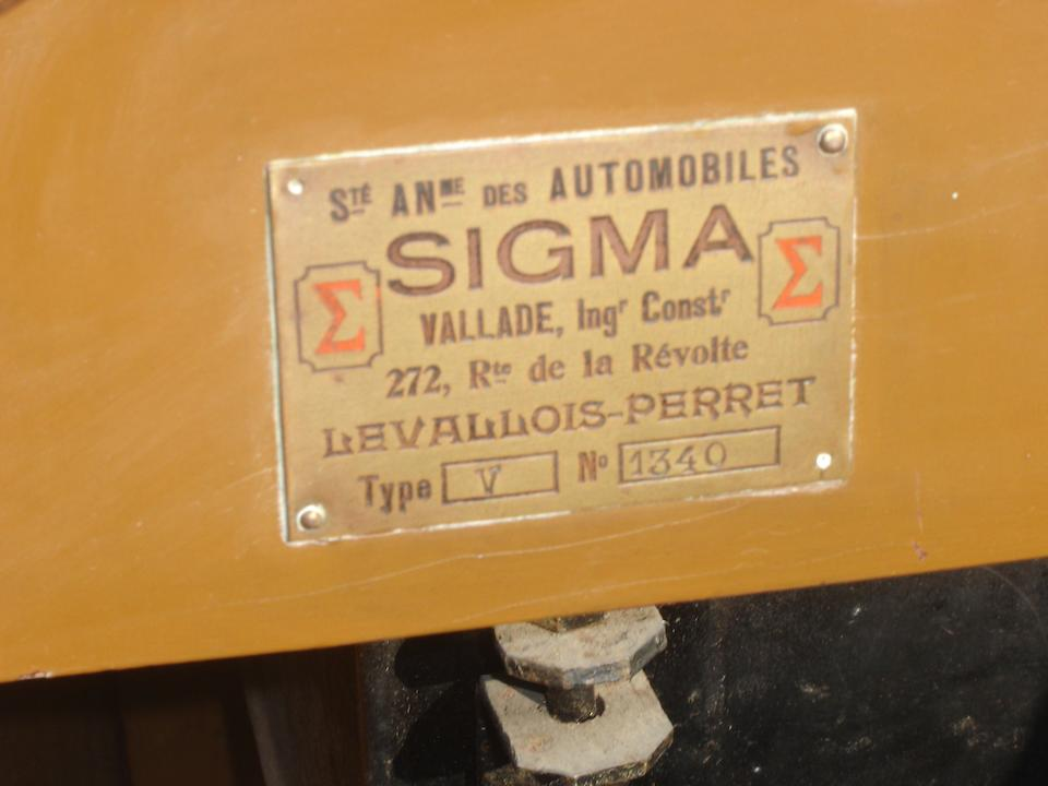 1919 Sigma 10hp Tourer  Chassis no. 1340 Engine no. 27992