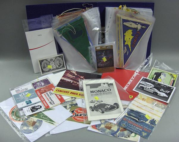 Assorted motoring ephemera,