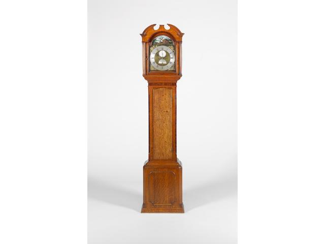 A late 18th century mahogany banded oak longcase clock Edward Burroughs, Fordham