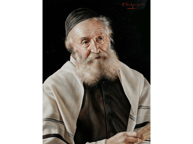 Otto Eichinger (Austrian, born 1922) A portrait of a Rabbi, and another, a pair, each 25 x 18.5cm (9