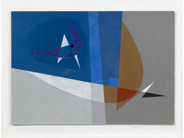 John Wells (British 1907-2000) Variations 26.7 x 39.7 cm. (10 1/2 x 15 1/4 in.)