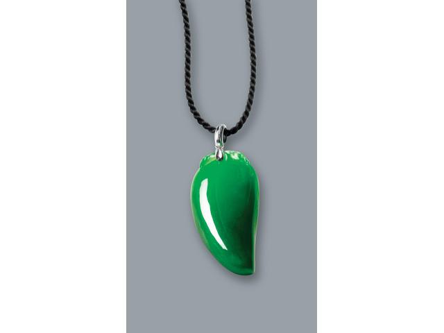 A jadeite pepper pendant