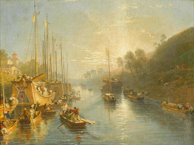 William Havell (British, 1782-1857) Sunrise on the Grand Canal of China 33 x 41 cm. (13 x 16 in.)