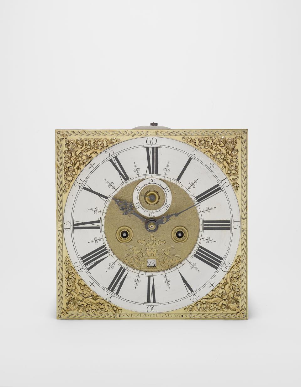 A good early 18th century walnut longcase clock Joseph Saers, Perpool Lane, London