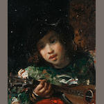 Attributed to Jacques Emile Edouard Brandon (French, 1831-1897) The lute player