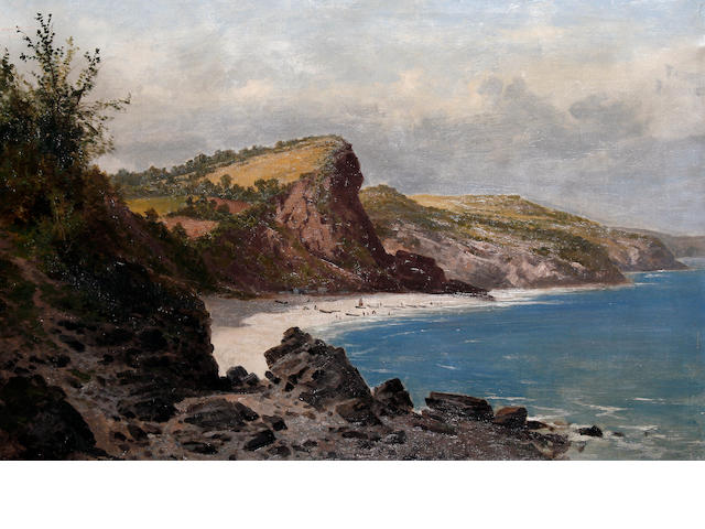 Arthur Bevan Collier (British, active 1880-1899) Babbacombe Bay, Devon