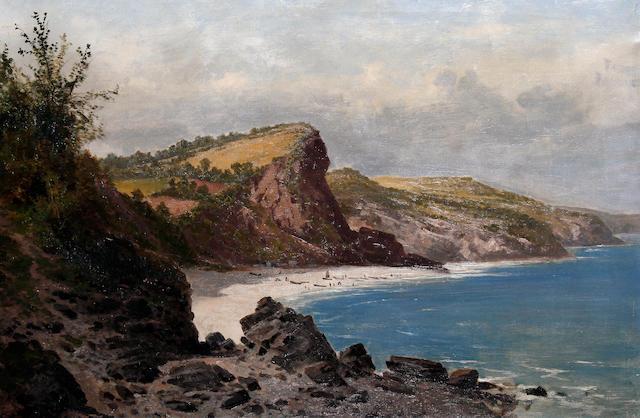 Arthur Bevan Collier (British, active 1880-1899) Babbacombe Bay, Devon