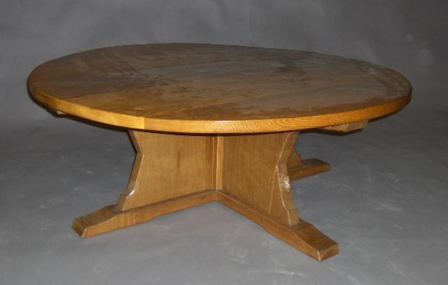 A large 'Rabbitman' oak coffee table