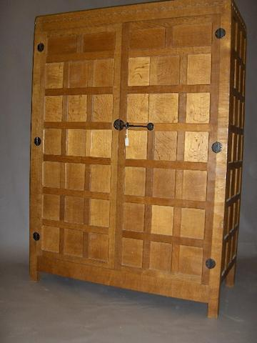 A Robert 'Mouseman' Thompson of Kilburn oak wardrobe