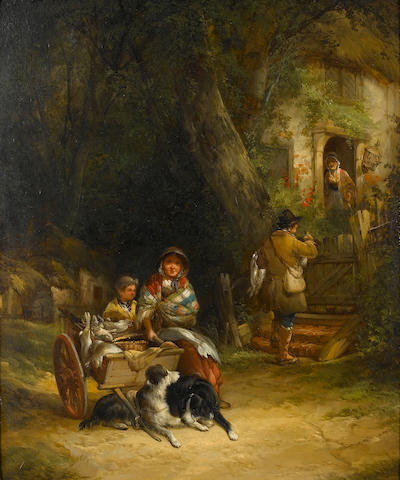William Shayer, Snr. (British, 1787-1879) A rabbit seller in the New Forest