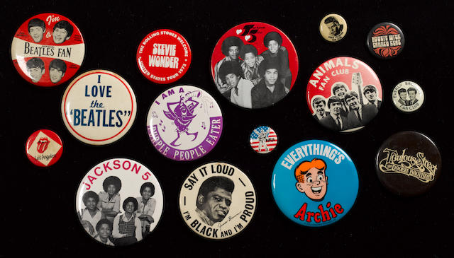 A large collection of badges, 1950s-70s,