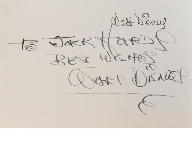 An original 1940 American edition of 'Fantasia' autographed by Walt Disney,