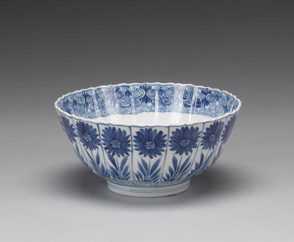A blue and white 'Aster Pattern' bowl Kangxi