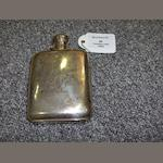 A late Victorian hip flask by James Dixon and Sons, Sheffield 1900