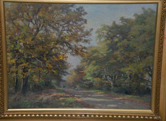 William  Greaves (British, 1852-1938) 'Autumn, Harewood Avenue, East Keswick'