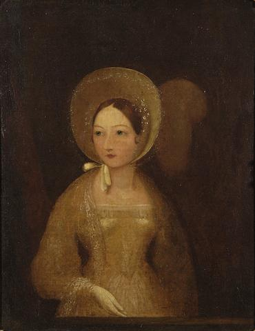 English School, (19th Century) Portrait of a young lady possibly Queen Victoria