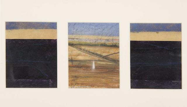 Clement McAleer (British, 1949) Dark and light land (studies for tryptich) 1982