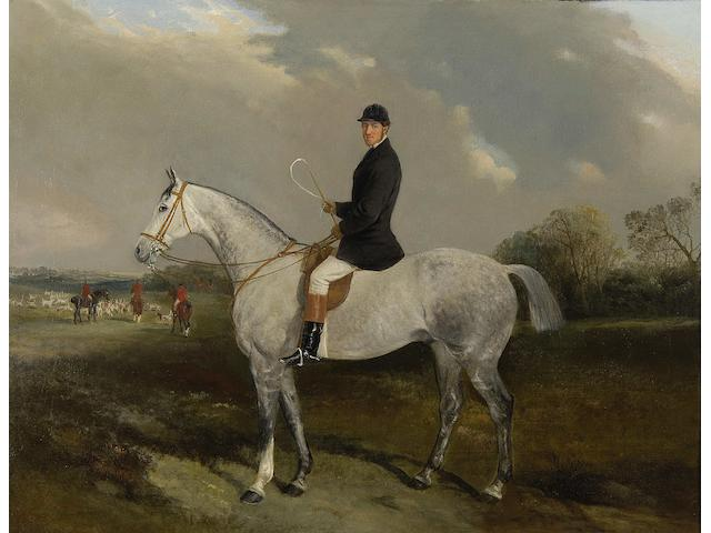 John Duvall (British, 1816-1892) Major Frederick Barlow on his grey hunter