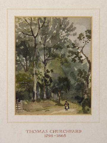 Thomas Churchyard (British, 1798-1865) Coastal landscape and another, landscape.  ((2))