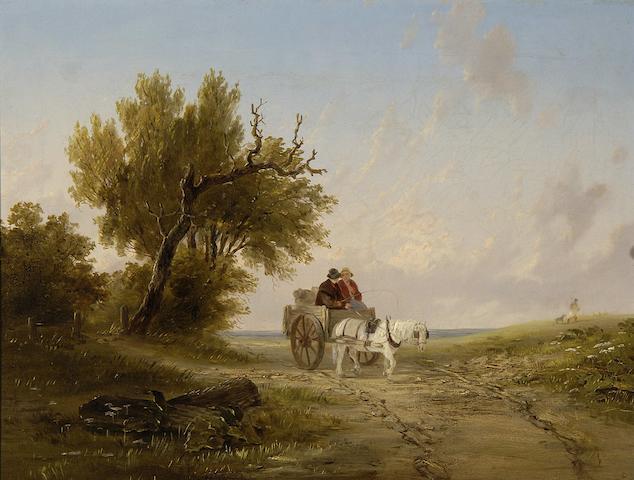 John Duvall (British, 1816-1892) Returning from market