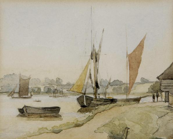 Thomas Churchyard (British, 1798-1865) River Bank