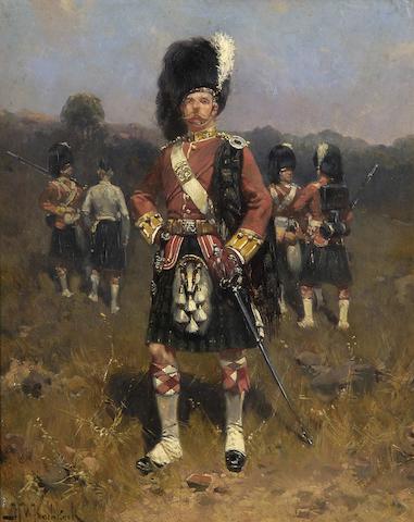 Hermanus Willem Koekkoek (Dutch, 1867-1929) Argyle and Southern Highlanders