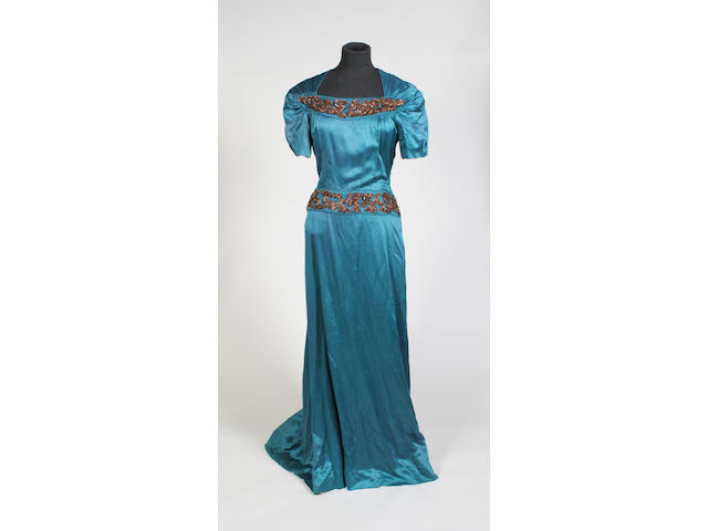 A Schiaparelli 1940s evening dress