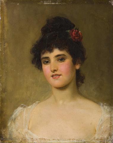 Emile Eisman-Semenowsky (Polish/French, 1857-1911) 'Young beauty'