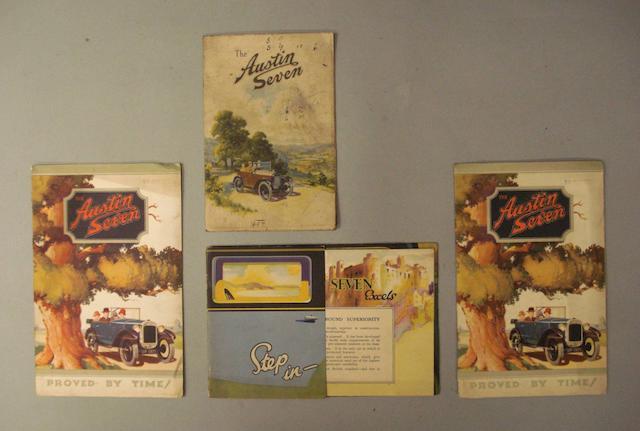 Austin Seven sales brochures,
