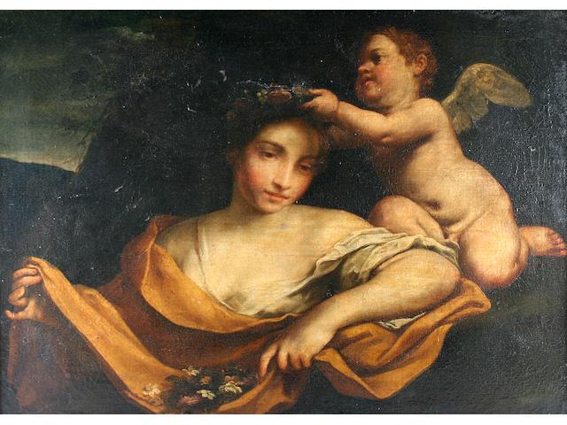 Italian School, circa 1700 Primavera and attendant putti,