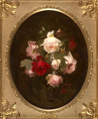 James Stuart Park (British, 1862-1933) Pink and red roses