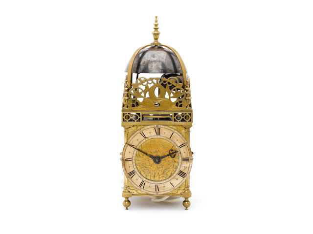 A late 17th century quarter striking lantern clock Peter Closen