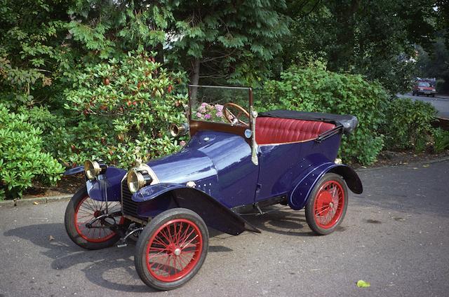 1913 Peugeot Bébé 6hp Type BPI Two-Seat Tourer  Chassis no. 10252