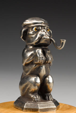 A comical bulldog mascot by Max Le Verrier, French, 1920s,