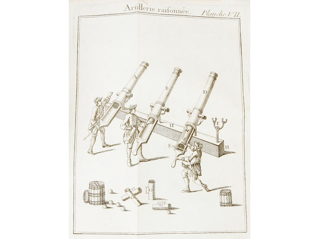 MILITARY BLOND (GUILLAUME DE) L'artillerie raisonné, 30 folding engraved plates
