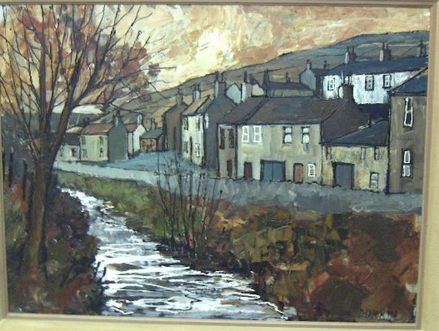 Tom Durkin, British 20th century A North Yorkshire village