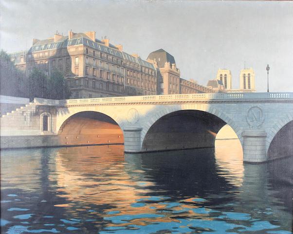 Reza Samimi (20th century) Le Pont Saint-Michel, Paris,