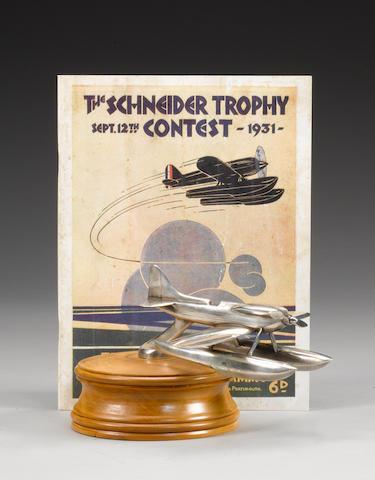 A Schneider Trophy Seaplane mascot, circa 1930,