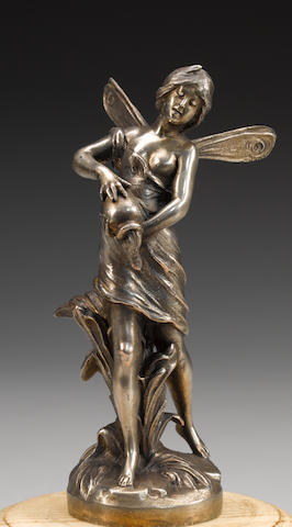 A 'Water Fairy' mascot by August Moreau, French, circa 1920,