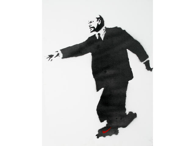 Banksy (British, born 1975) 'Lenin on Rollerskates'