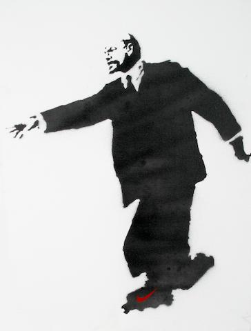 Banksy (British, born 1975) 'Lenin on Rollerskates (Who Put the Revolution on Ice?)', 2003