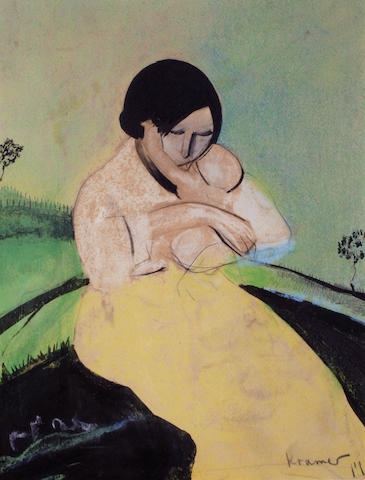Jacob Kramer (British, 1892-1962) Mother and child, circa 1915