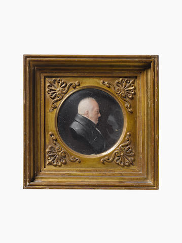 After David Morison (English 1793-1850): Two mid 19th century English coloured wax miniature portrai