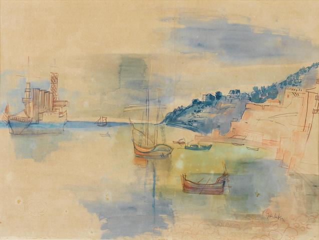 Jean Dufy (French, 1888-1964) Baie de Villefranche-sur-mer