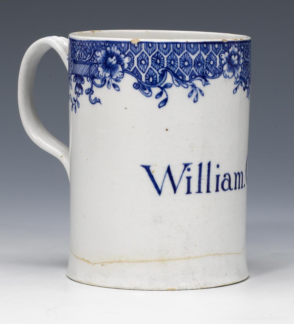 An important Isleworth mug circa 1780